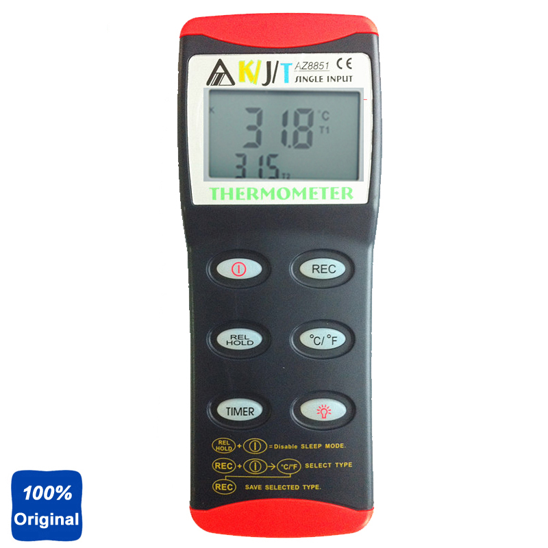 3-IN-1 Portable K/J/T Single Thermocouple Thermometer Meter Thermometer Tester AZ-8851 k j type single channel thermometer temperature meter tester gauge tm 80n