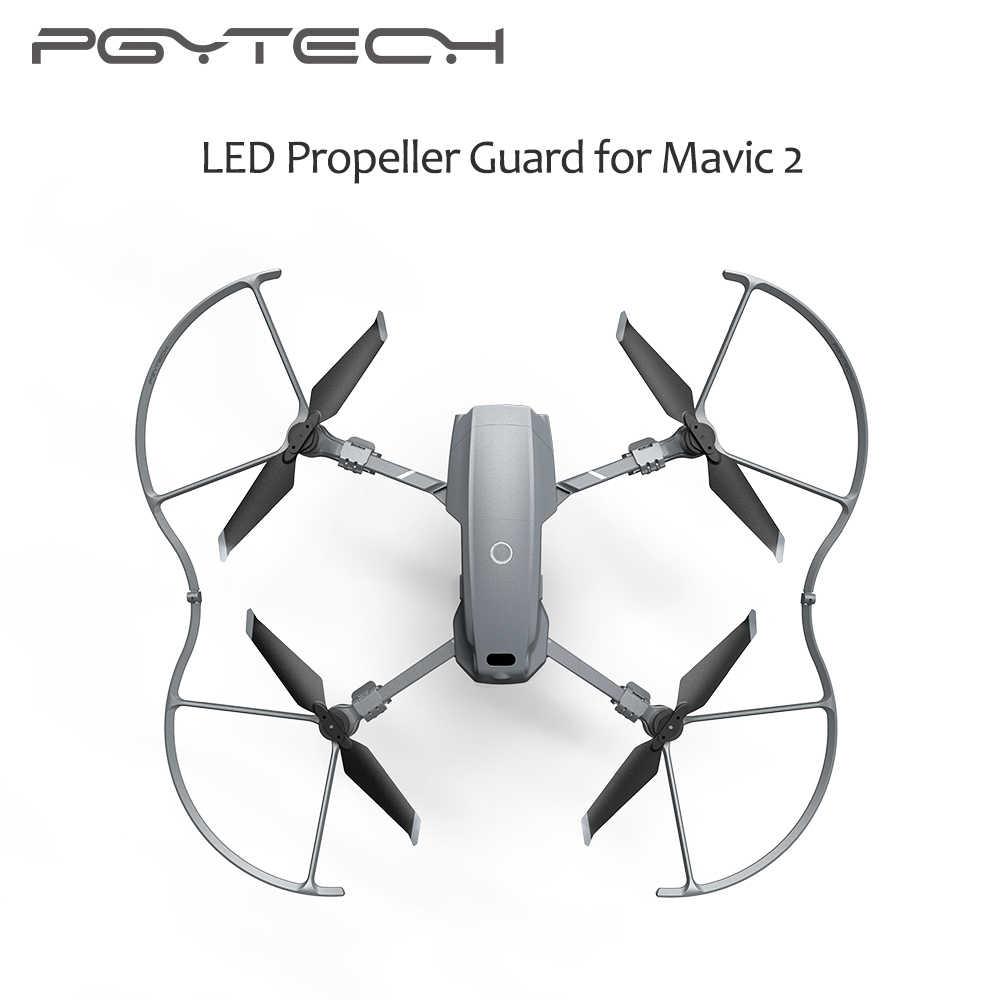 PGYTECH DJI Mavic 2 hélice LED Protector de guardia con modo de iluminación colorido Quadcopter Drone accesorios para Mavic 2 Pro y Zoom