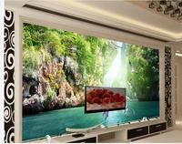 3d wallpaper for room Home Decoration Dolphin Guilin landscape 3d background wall classic painting wallpaper
