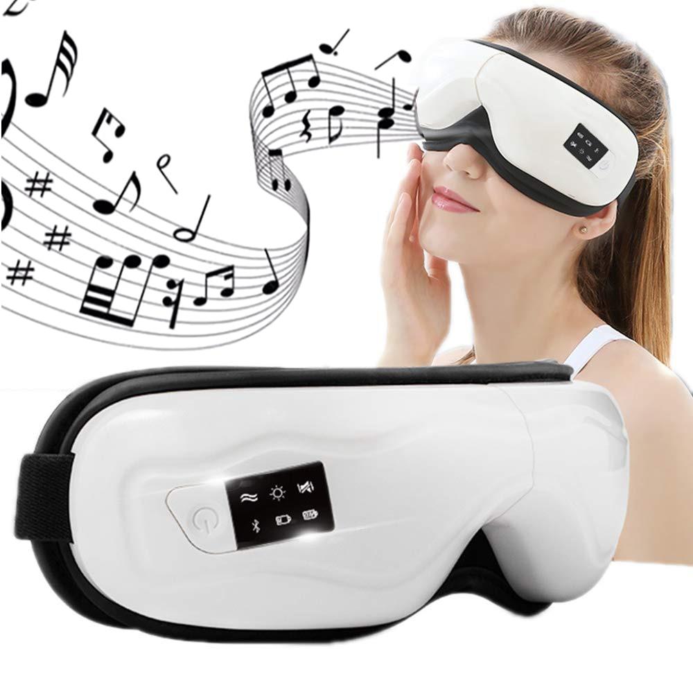 Electric Vibration Eye Massager Air Compression Bluetooth Music Heated Eye Massage Care Machine Fatigue Relieve Sleep Eyes Mask