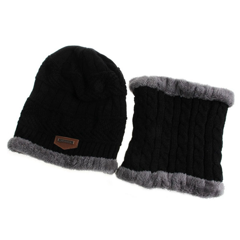 Warm Knitted Hat and Circle Scarf (8)