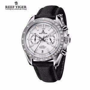 Image 4 - Reef Tiger/RT Reloj de marca de diseñador para hombre, con cronógrafo, fecha, superluminoso, correa de nailon, RGA3033, novedad de 2020