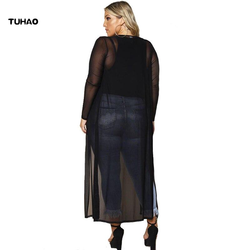 Automne Oversize Soie Les Maxi Blouse 2018 Blouses Bc90 Mousseline De Nouveau Cardigans Femmes Long Vêtements Femelle Pour Ouvert Longue Survêtement qTXPY7