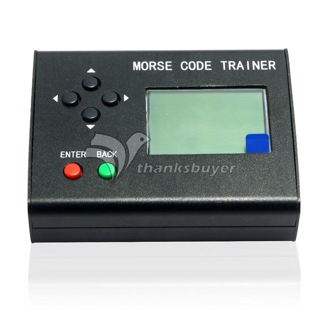 Código Morse Trainer LCD Telegraph CW Chave Auto Radio Transmissor da Estação de Rádio de Ondas Curtas