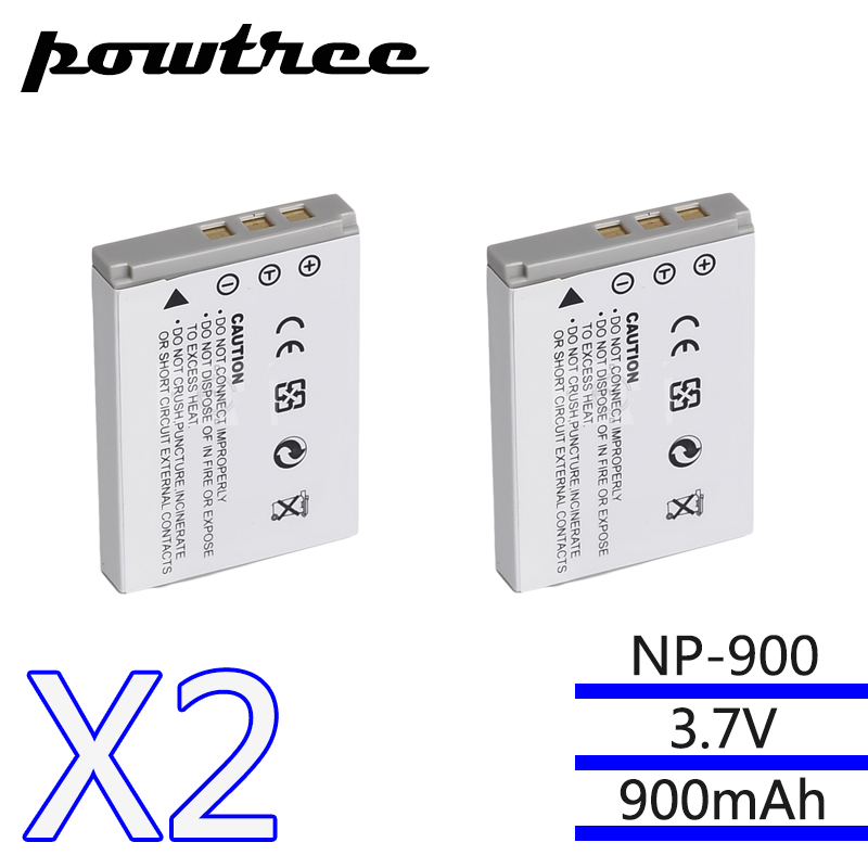 Batteries Frugal 2packs 7.3v 900mah Battery For Minolta Np-900 Ve40 E50 Aigov760/880/t35 Benq E40/e43/e50/e63/c500/t5/e720/e820/e1000 Pentax 53s Power Source