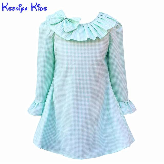 Kseniya Kids 2017 Winter Spring Cotton Long Sleeve Dress New Year Costumes For Kids Girls Dresses Kids Girls Candy Color Clothes