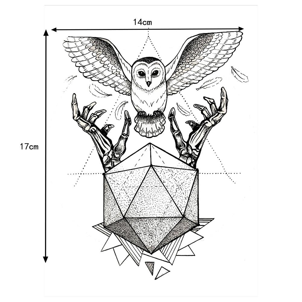 Aliexpress Buy 1 PC Temporary Inspired Body Tattoo Sticker KM 010 Flower Arm Art Hunter Hands Owl Decal Waterproof For Women Men From