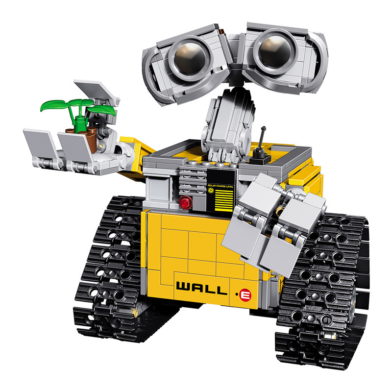 LEPIN Robot WALL E Building Block Bricks Toy Learning Educational Toys For Children Kids Gift lepin 22001 pirate ship imperial warships model building block briks toys gift 1717pcs compatible legoed 10210