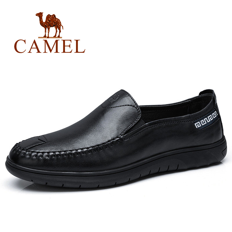 CAMEL Genuine Cow Leather Men Shoes Moccasins Soft Leather Male Loafers Flats Driving Shoes for Men Sewing Thread Footwear adidas praeztige synth