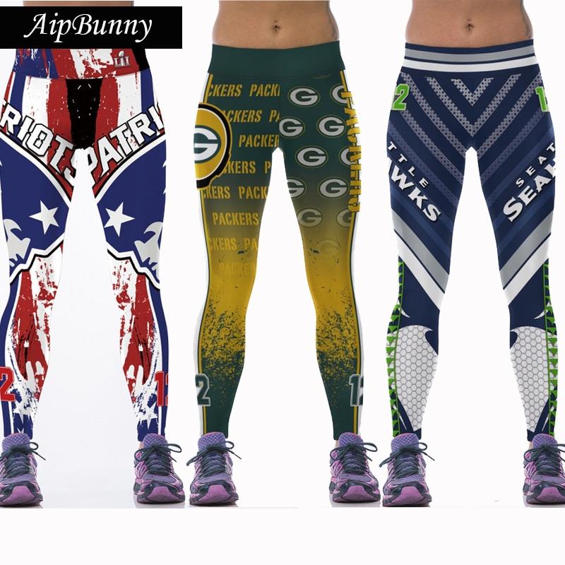 AtejiFey Wholsale New Patriot Activewear Legging 3D Printing Pants Sweatpants Fitness Leggins Running Joggers Workout Trousers