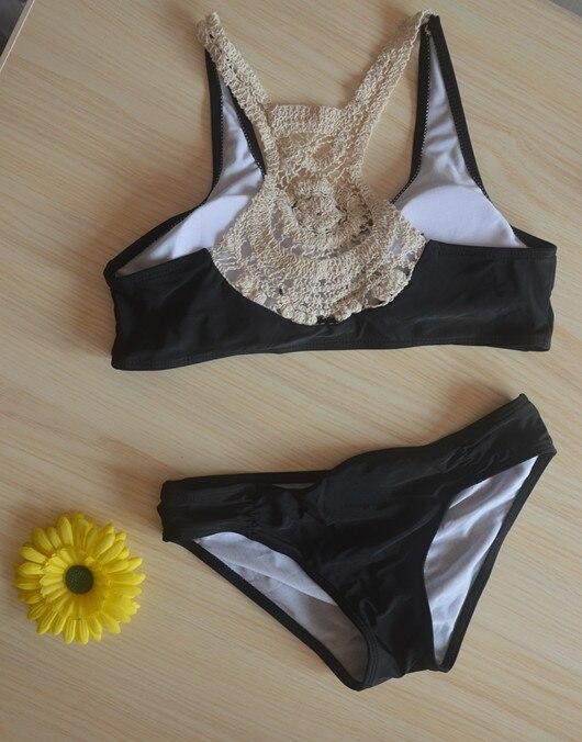 Nuevo triángulo de crochet bikini sólido volante bikini traje de - Ropa deportiva y accesorios - foto 3