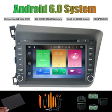 Android 6 0 Octa core CAR DVD PLAYER for HONDA NEW CIVIC 2012 Car font b