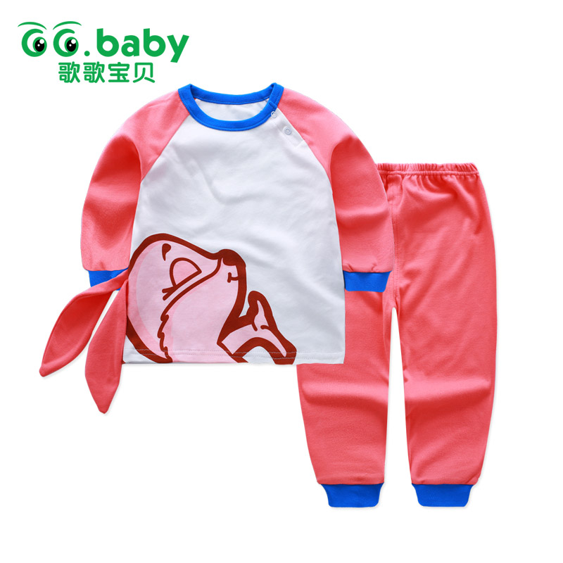 540423e54b3 Baby Suit Set Rabbit Long Sleeve Cotton Baby Suits Girls Clothing Newborn  Infant Outfits Baby Boy Sets Clothes Bunny Shirt Tee