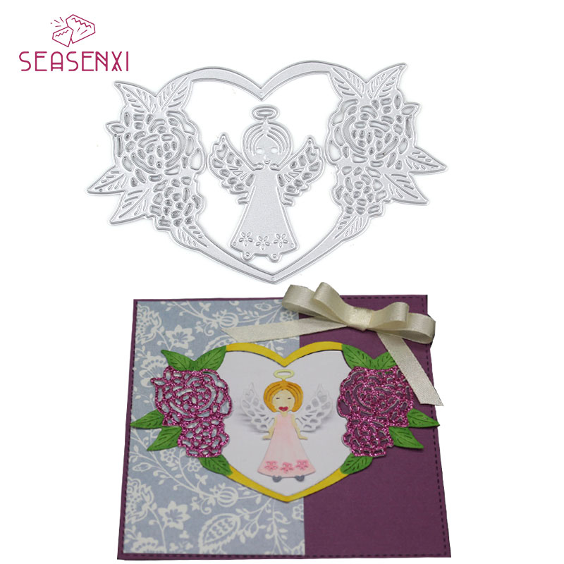 Cardmaking Scrapbooking HEART /& WINGS New Metal Die Craft