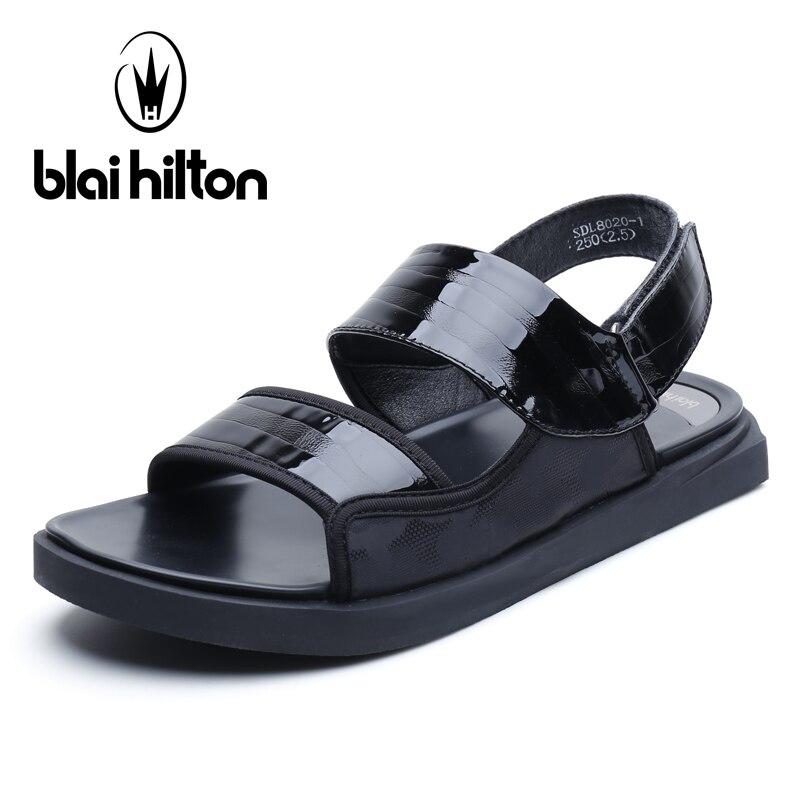 Blai Hilton 2018 New Fashion Summer Sandals Outdoor leisure beach shoes Breathable/Comfortable Hook &Loop men shoes Sandals