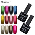 Vrenmol 1pcs Platinum UV/ LED Nail Polish Shining Colorful UV Glitter Top and Base Coat Vernis Semi Permanent Gel Varnish