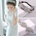 Ослепительная кристалл mesh пряжа волос невесты Hairwear горный хрусталь свадебные украшения Ободки blingbling