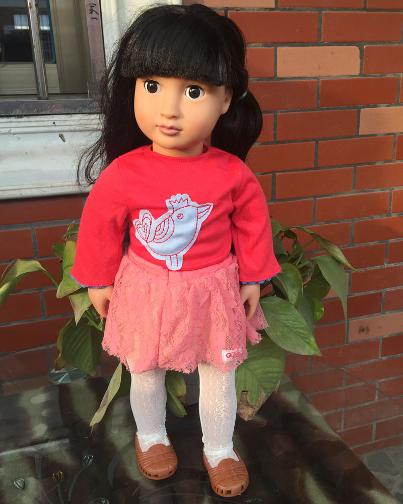 18 inch american girl doll Our Generation Chinese Girl Doll  With Clothes And Shoes 1 Set free shpping  ADG17 2pcs set clothes american girl doll clothes 18 inch doll clothes and accessories dresses jpo 1
