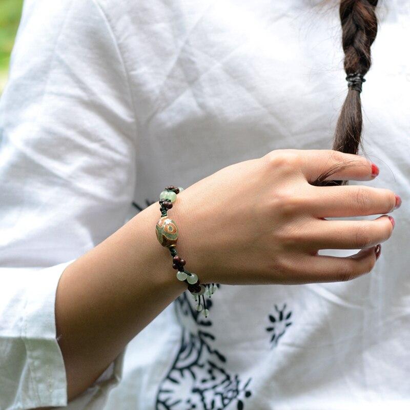 2019 moda vintage wisiorek koraliki Dzi Awenturyn i kamień naturalny - Modna biżuteria - Zdjęcie 6