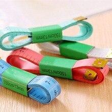 Рулетка для измерения размеров тела швейная линейка метр швейная измерительная лента швейная портновская рулетка Мягкая 1,5 м случайный цвет