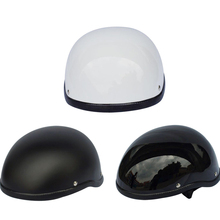 Hot Sell WWII Universal Motorcycle Helmet For Harley vintage Half Face Retro German Chopper Cruiser Matte Black Helmets
