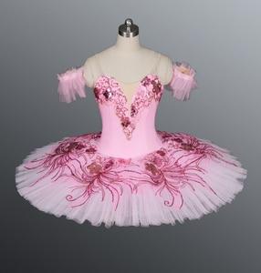 Image 4 - Azul real pássaro yagp profissional ballet competiton tutu saia feminina rosa clássico panqueca tutu traje vestido