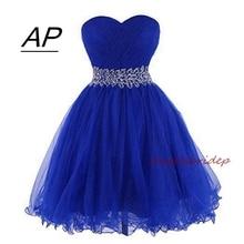 ANGELSBRIDEP милое короткое/Мини платье для выпускного вечера милое Тюлевое бальное платье с поясом для особых случаев вечерние платья