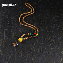 Buy wooden africa pendant and get free shipping on aliexpress natural africa buddhist mala wood beads necklaces women stone pendant chain necklace ethnic jewelrychina aloadofball Image collections