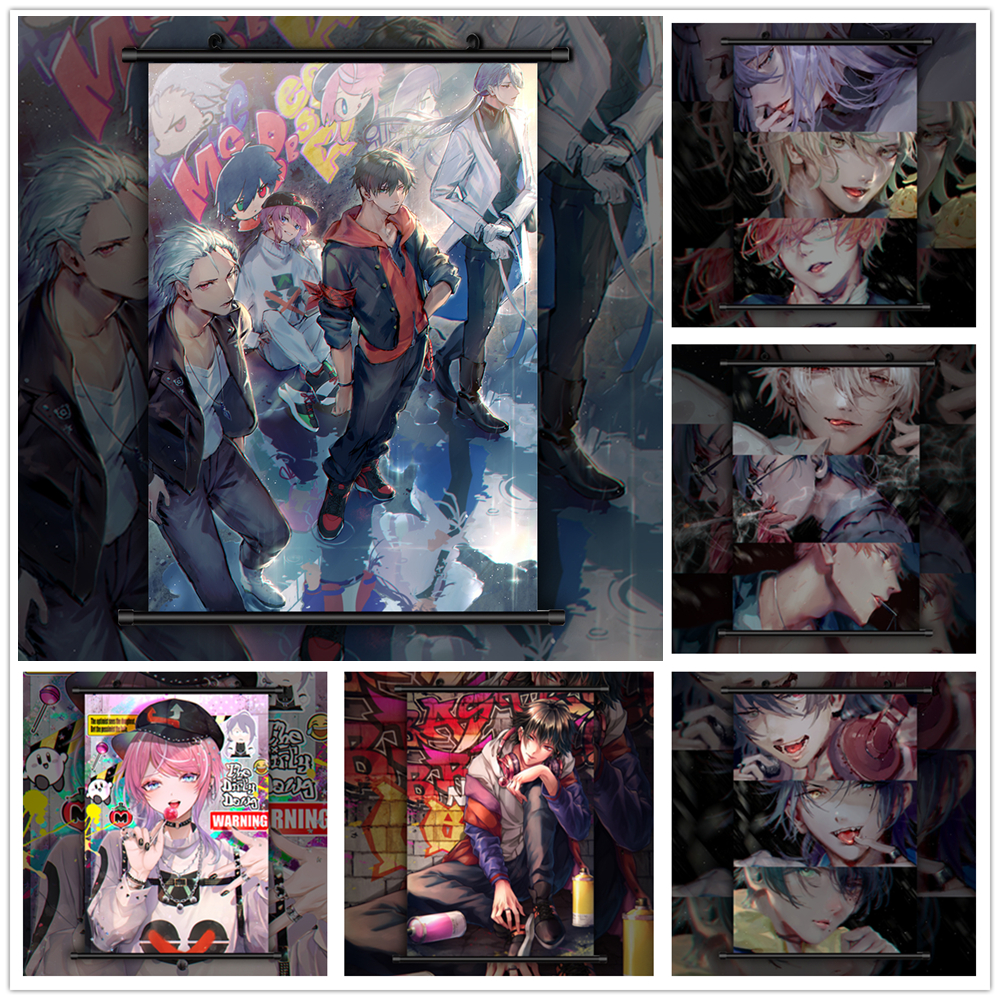 Hypnosis Mic MAD TRIGGER CREW HD Print Anime  Wall Poster Scroll Room Decor
