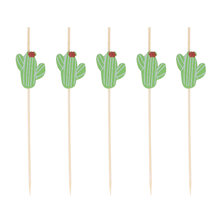 100pcs Cocktail Picks Disposable Fruit Dessert Sticks fork Creative Bamboo Toothpicks for Party Supplies Home kitchen Bar Tools(China)