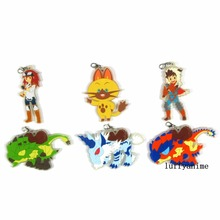 Monster Hunter Stories Ride On Rubber pendant Japanese anime cartoon PVC Toy Figures Mobile Phone Accessories strap Keychain monster hunter stories nintendo 3ds