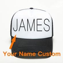 Unisex Adult Custom Name Personality Baseball Cap High Quality Pure Handmade Printing Mesh Breathabl Hat Free LOGO Accept