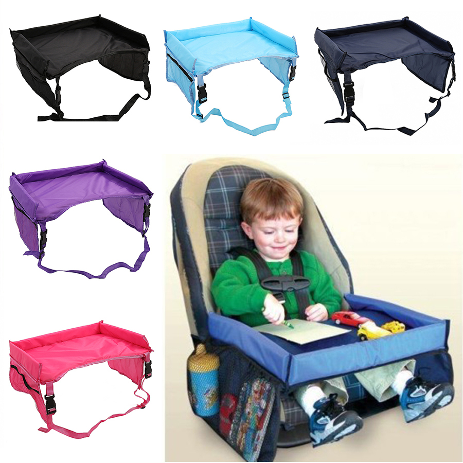 Baby Car Seat Tray Stroller Kids Toy Food Water Holder Desk Children Portable Table For Car New Child Table Playpens