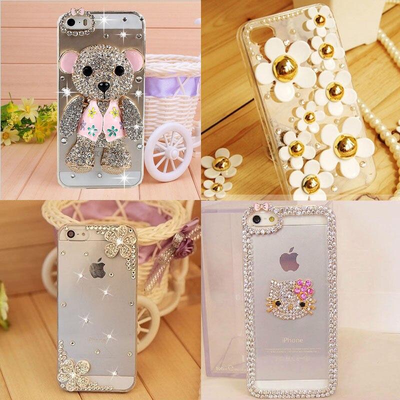 2015 100% Handmade 3D Bling Case Crystal Rhinestone Mobile Phone Hard Back Skin Cover Apple iPhone 6 - Arvin Hoa's Store store