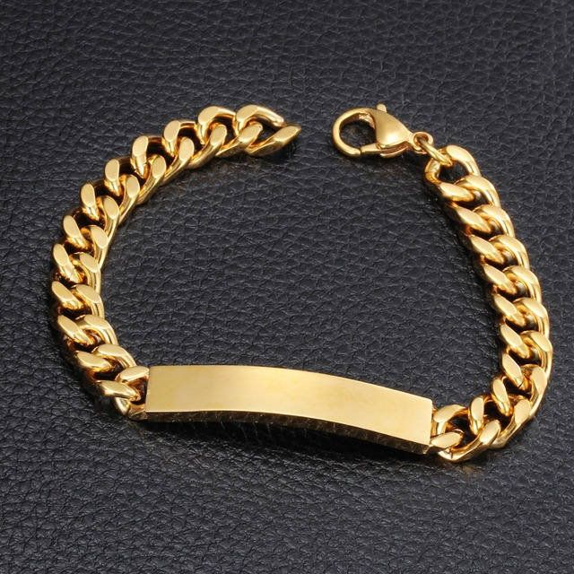 Arabic Gold Jewelry 18K Gold Filled Bracelet Wholesale Mens Boys