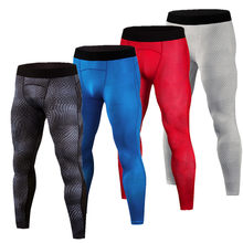 New men's compression Leggings Snake skin printed running sports Gym fitness male Crossfit Tight pants capris Sweatpants pants(China)