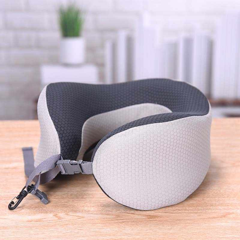 U Shaped Travel Pillow for Sleeping Car Air Flight Inflatable Memory Foam Pillows Neck Support Headrest Cushion Soft Cushion