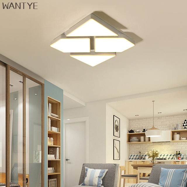 Kids Ceiling Lights Led Modern Lighting Fixture Lamp Dimmable For Children Room Bedroom Acrylic Lampshade Surface Mount