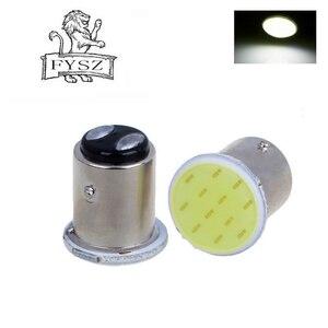 Image 5 - 10pcs P21W 1157 Bay15d 1156 BA15S P21W LED steering signal bulb COB car interior light stop reverse rear brake light super gloss