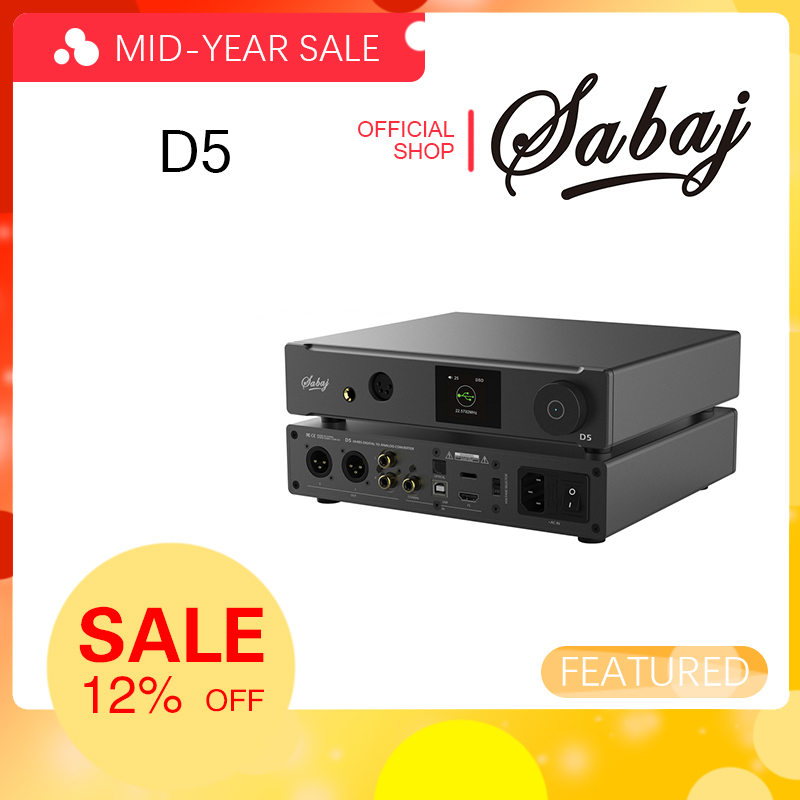 Entrée coaxiale optique I2S USB Sabaj D5 ESS9038PRO