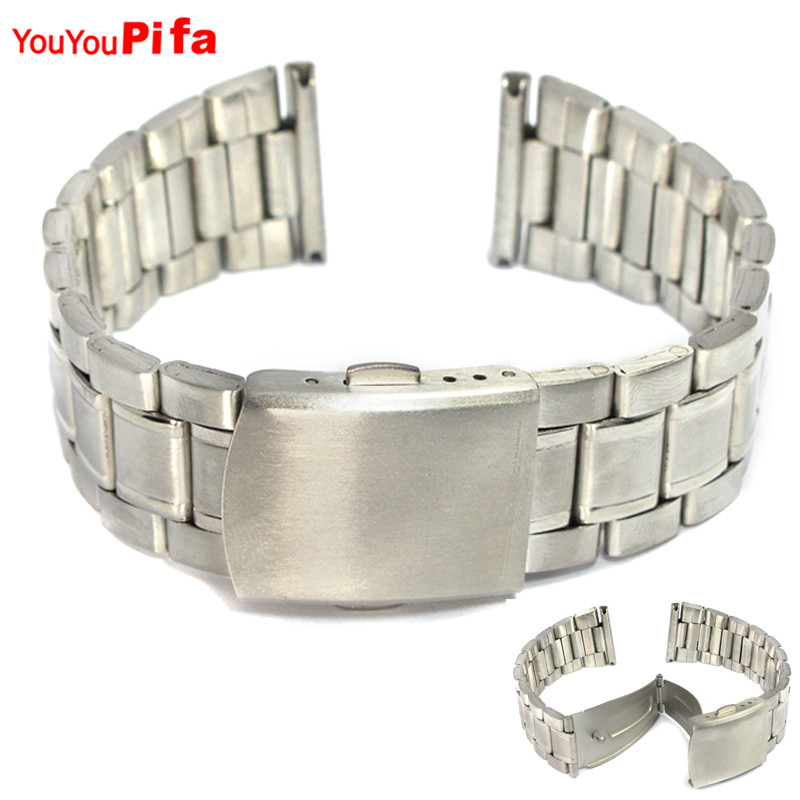 14mm 16mm 18mm 20mm 22mm Stainless Steel Watch band Strap Bracelet Watchband Wristband Buckle Classic Silver Strap for Men Women
