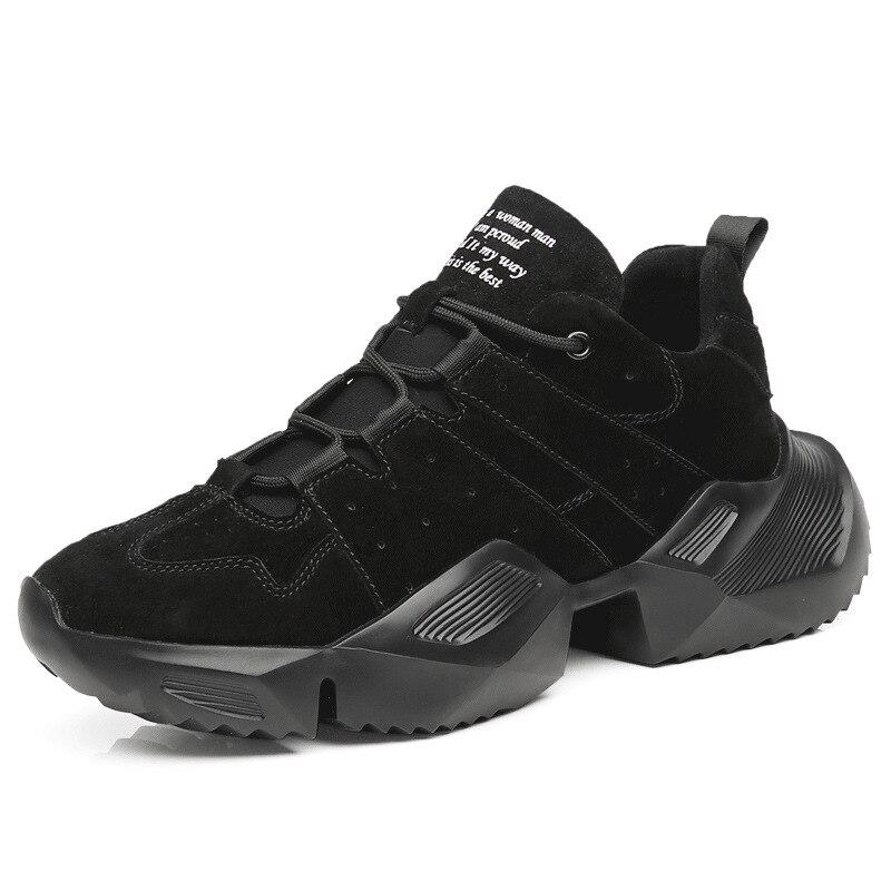 Nouveau rétro noir gris rouge en cuir véritable Clunky Sneaker Designer chaussures hommes chaussures de course imperméables classique formateur chaussures