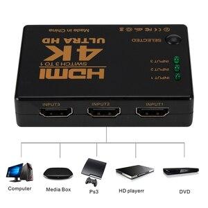 Image 3 - Rovtop Mini HDMI Switcher 4K HD1080P 3 5 Cổng HDMI Switch Phím Chọn Bộ Chia Với Trung Tâm Điều Khiển Từ Xa IR Cho HDTV DVD TV Box Z2