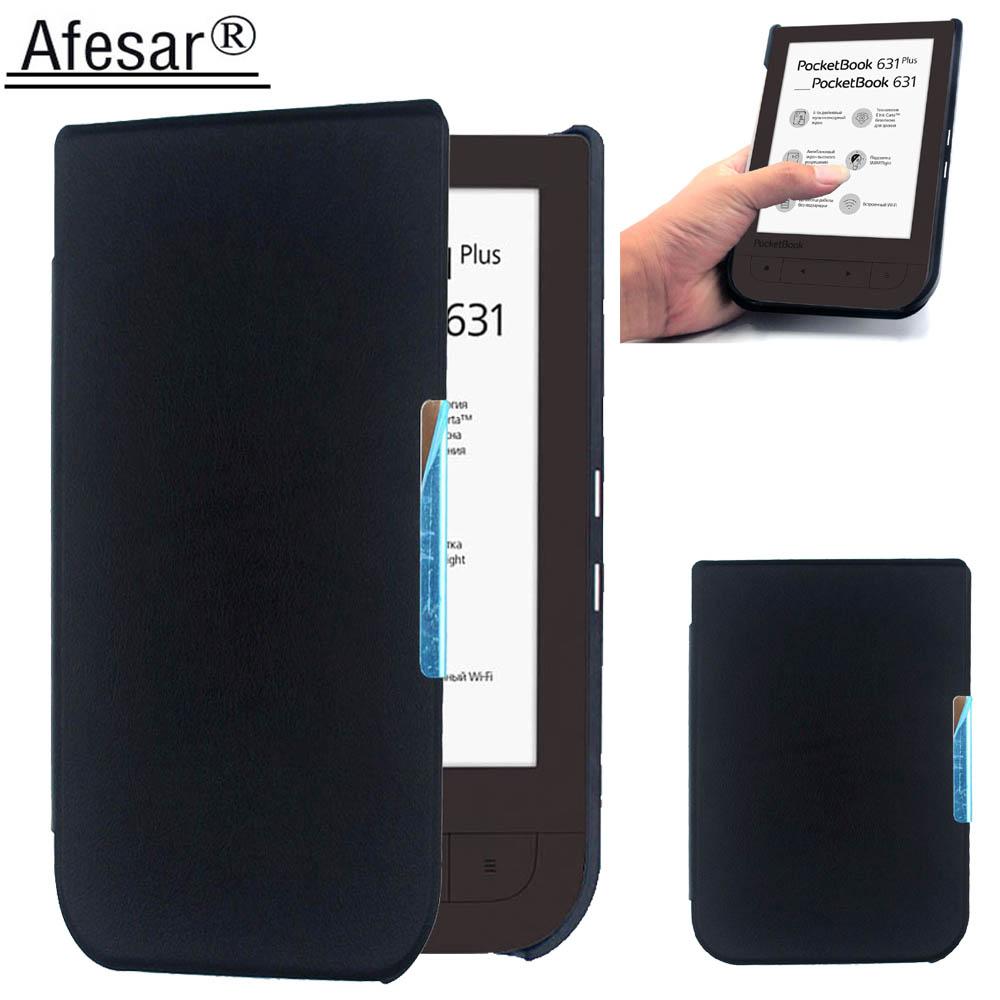 Afesar para PocketBook 631 eReader 6 pulgadas ultra delgado Funda de cuero magnético flip buen ajuste PB 631 plus bolsa