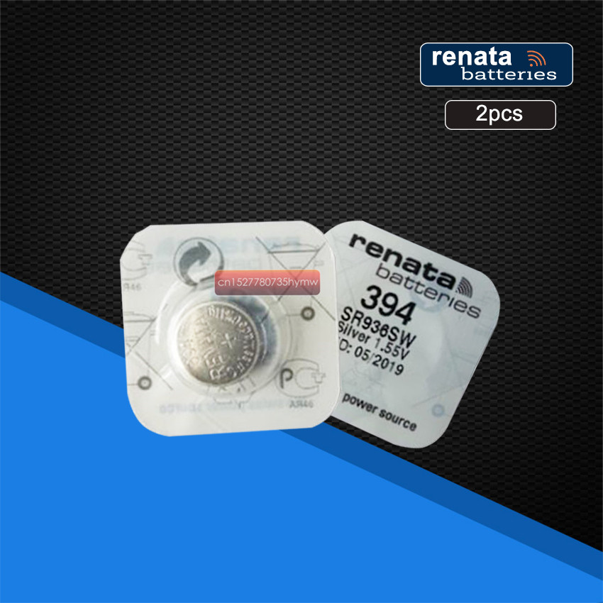 2pack Renata 394 SR936SW AG9 Button Battery For Watch Clock Repair Tools Cell Batteries