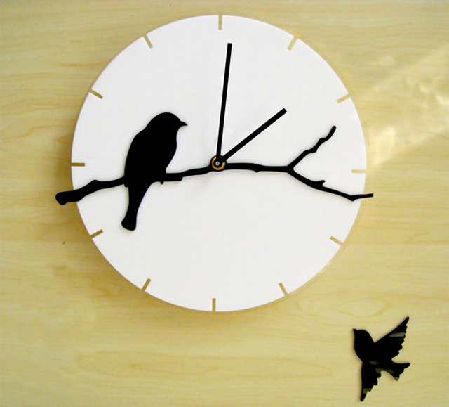 Wall watches acrylic art mute large wall clock modern design fashion ...