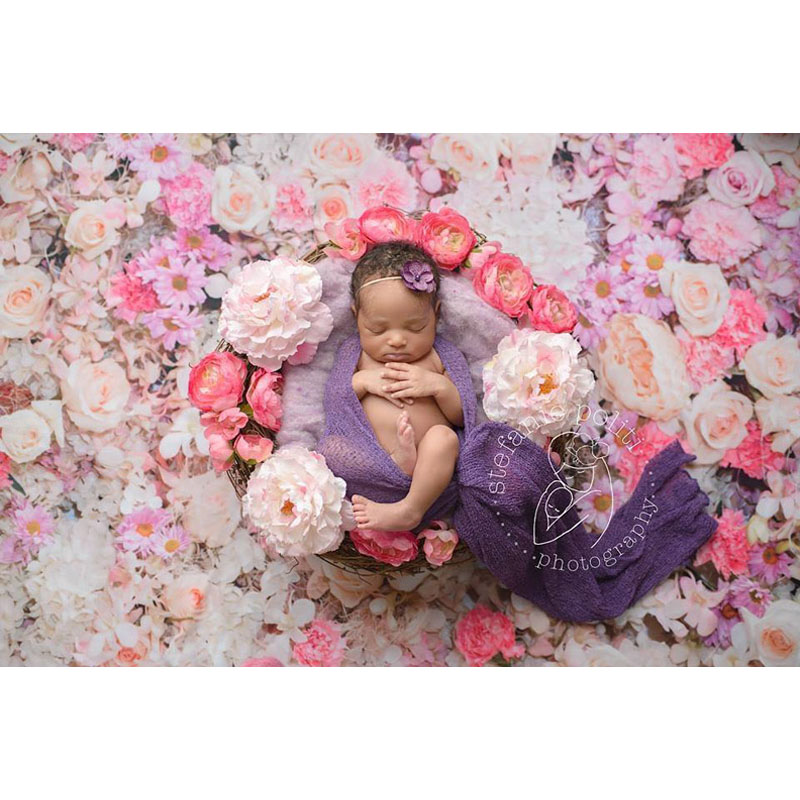 MEHOFOTO Polyester Seamless Washable Photography Background 5X7FT Flower Children Photo Backdrops for Photo Studio S-1232