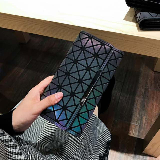 Geometric Polyester Clutch Wallet
