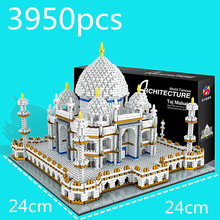 Children Educational Toys Taj Mahal Palace 3D Model Diamond Mini Building Brick Land Brand