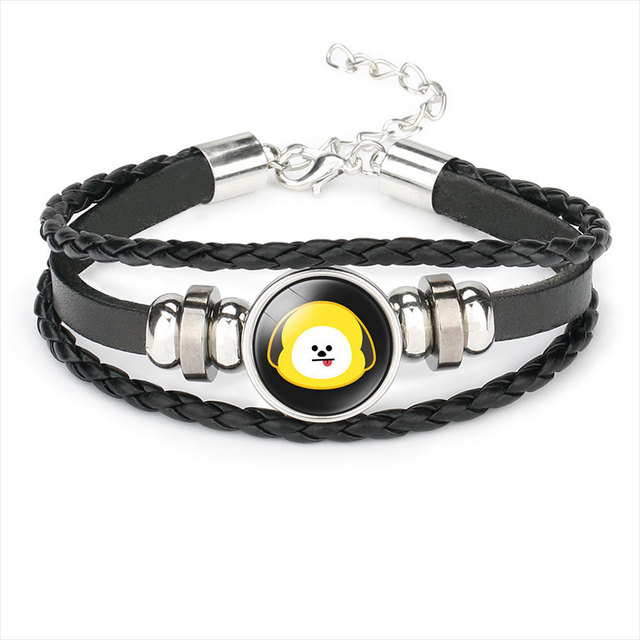 BTS BT21 LEATHER BRACELET (15 VARIAN)